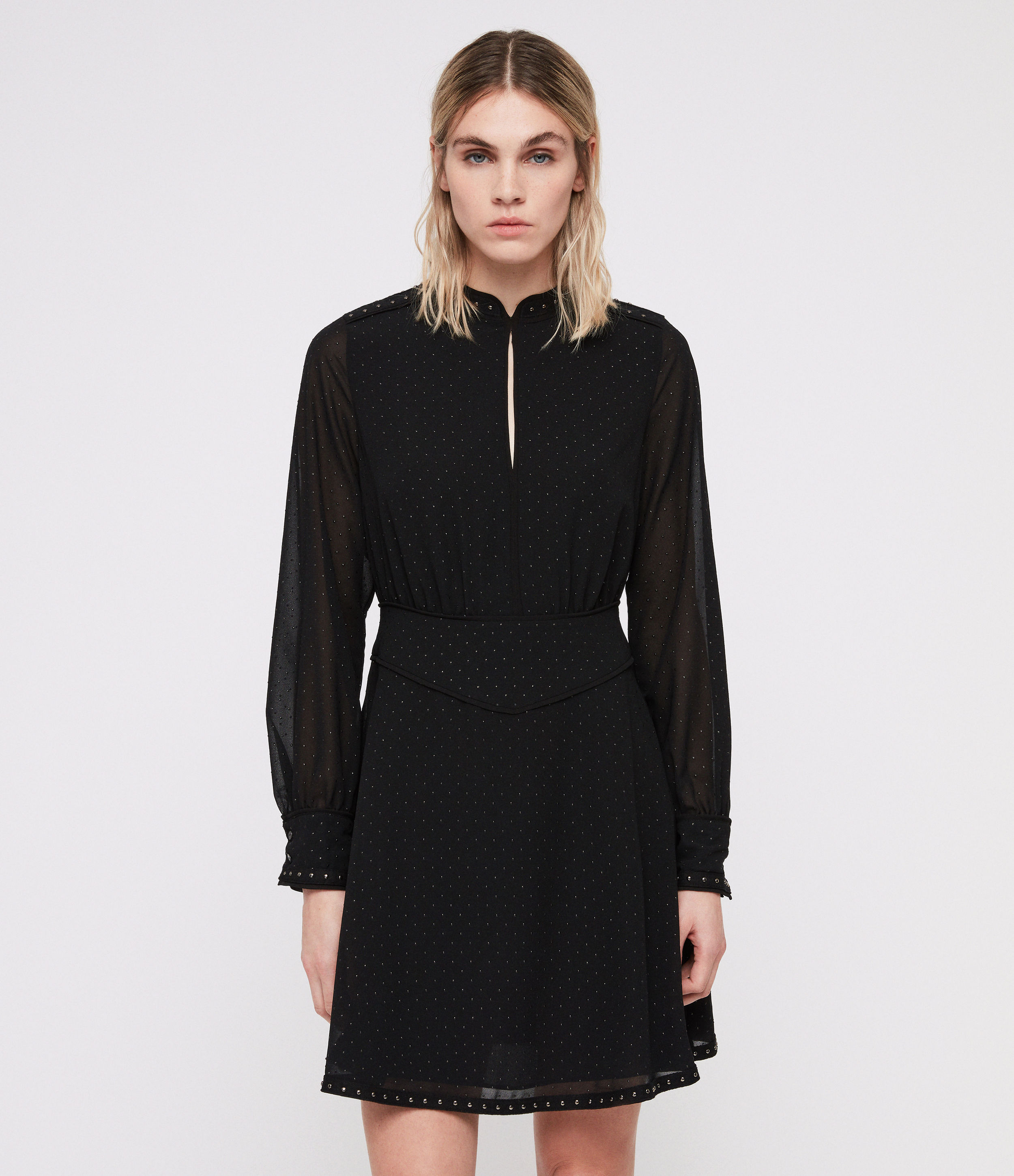 AllSaints Kay Stud Dress