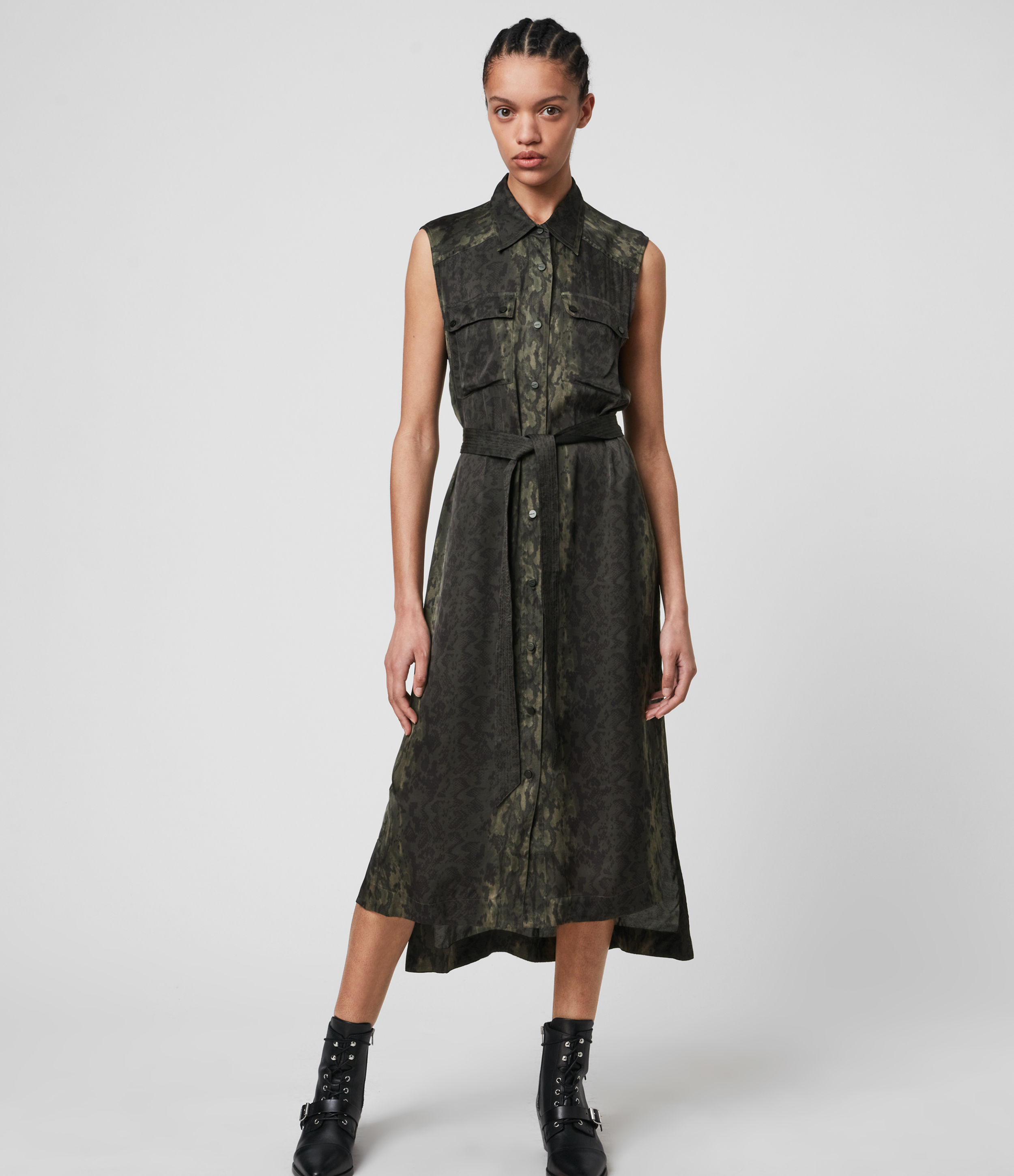 AllSaints Esthie Masala Dress