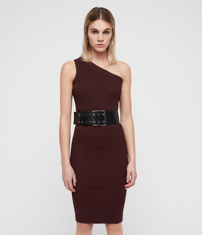 AllSaints Women's Chelle Dress, Red, Size: L