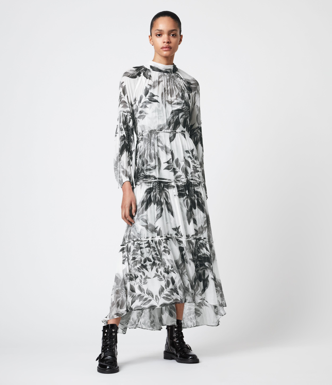 AllSaints Women's Eimear Creation Dress, White, Size: 8
