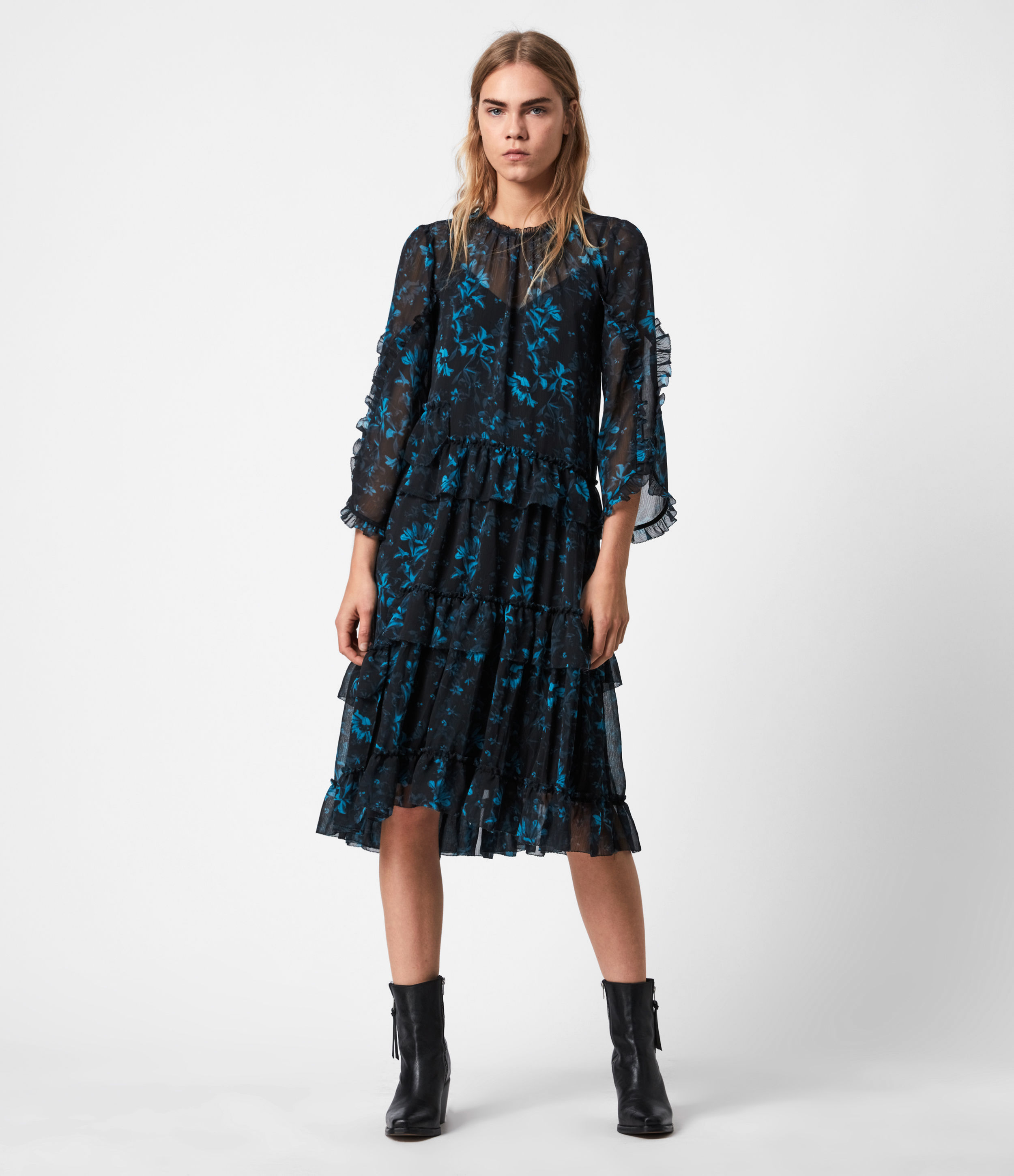 AllSaints Macey Cultivar Dress