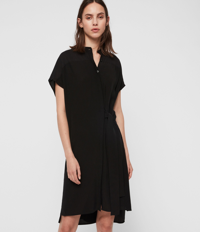 AllSaints Women's Willow Dress, Black, Size: S