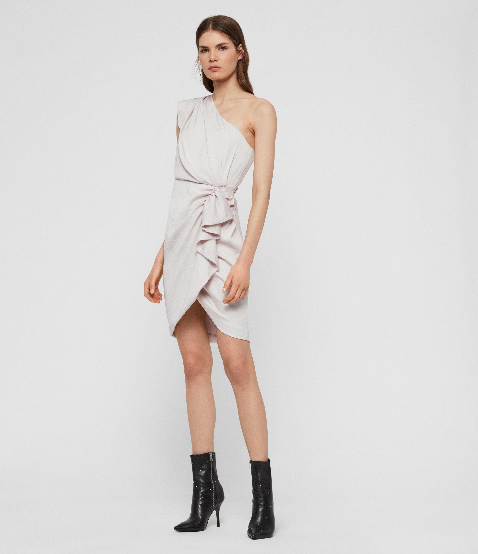 AllSaints Women's Lexi Dress, Pink, Size: 12