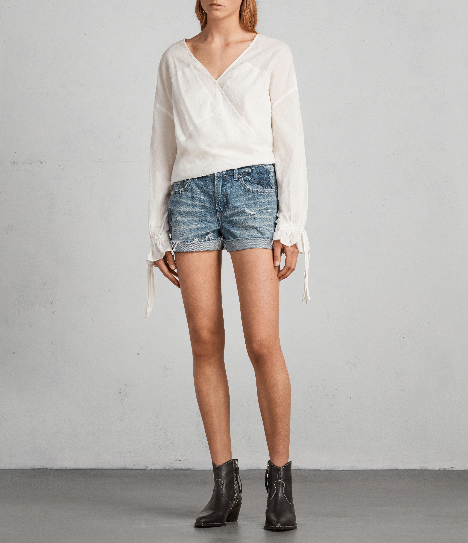 AllSaints Rose Pam Denim Shorts