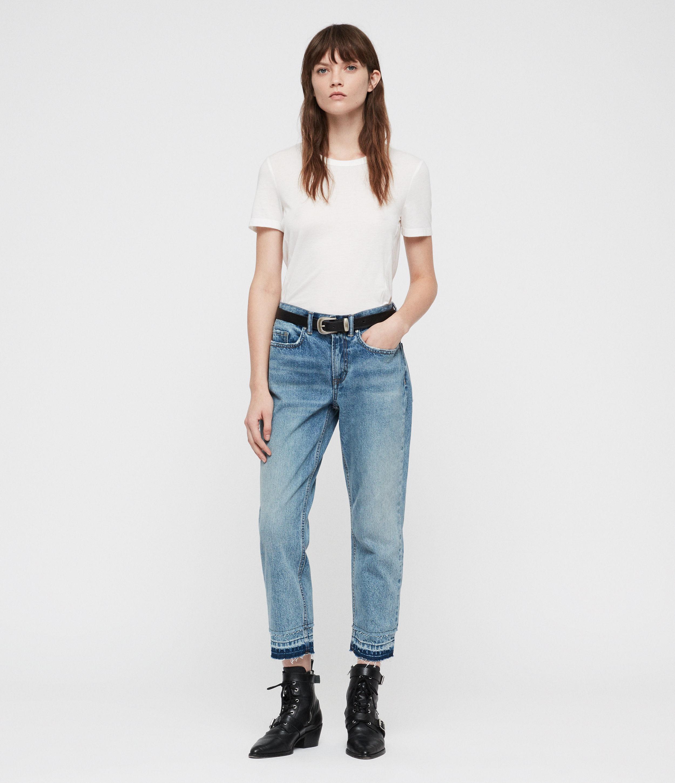 AllSaints Boys Frayed Ty Jeans