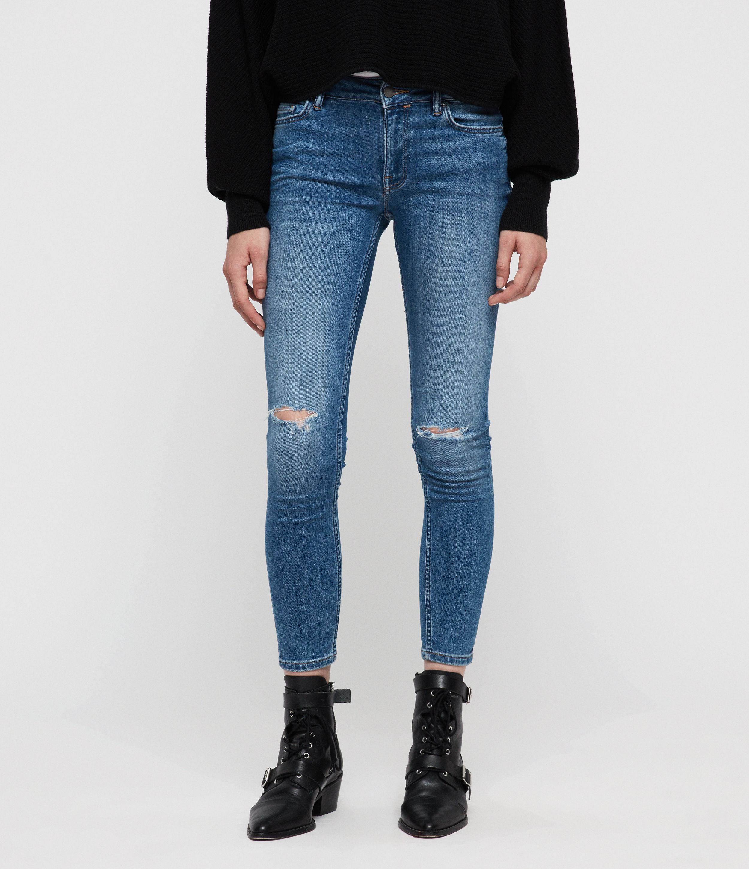 AllSaints Mast Destroys Skinny Ankle Jeans