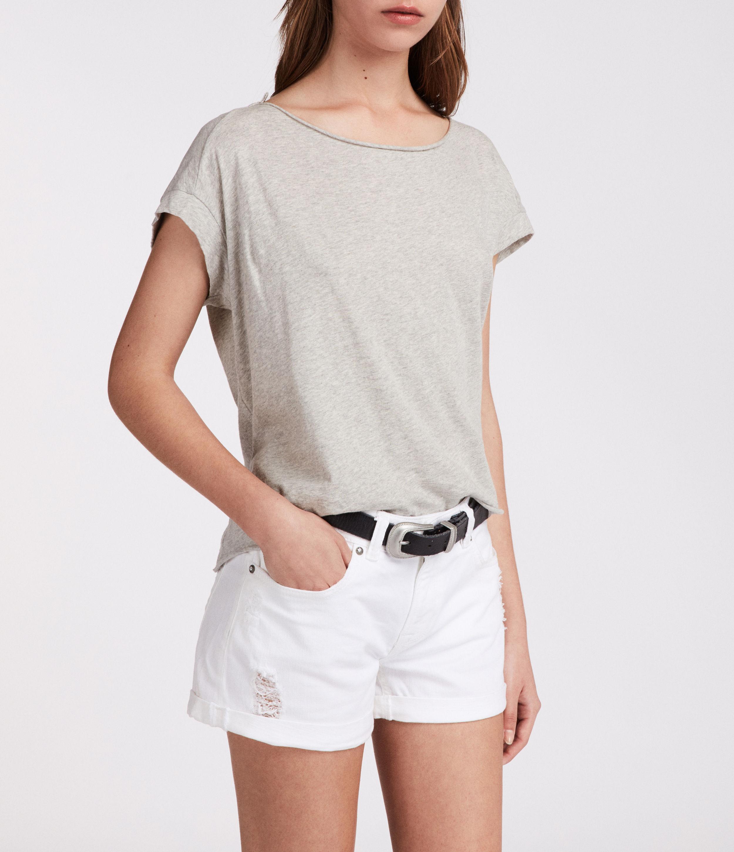 AllSaints Pam Low-Rise Denim Shorts