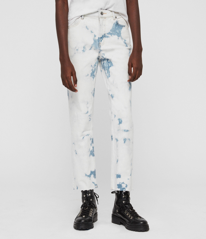 AllSaints Ava Straight High-Rise Jeans, Punk Bleach Blue