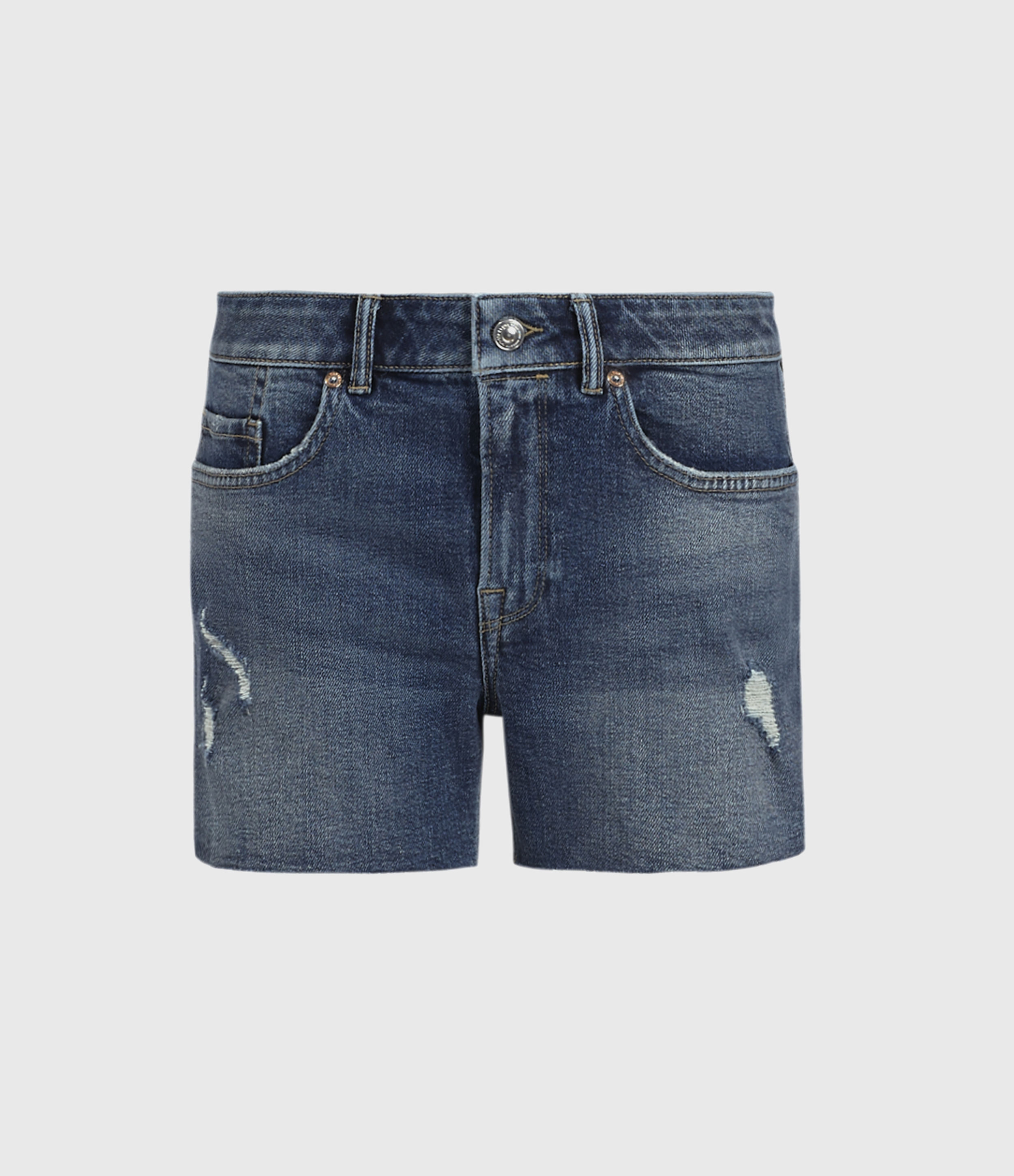 AllSaints Mera Cut Off Denim Shorts