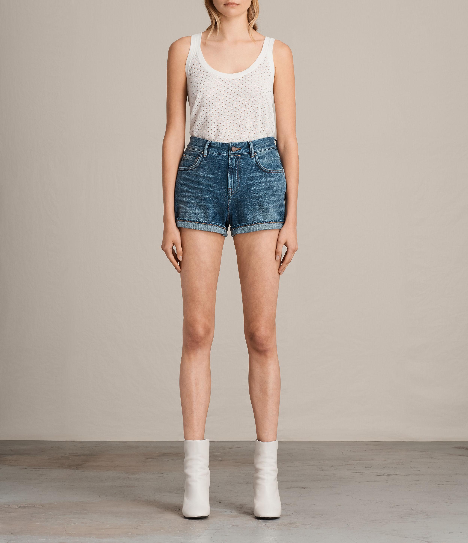 AllSaints Helena High-Rise Denim Shorts