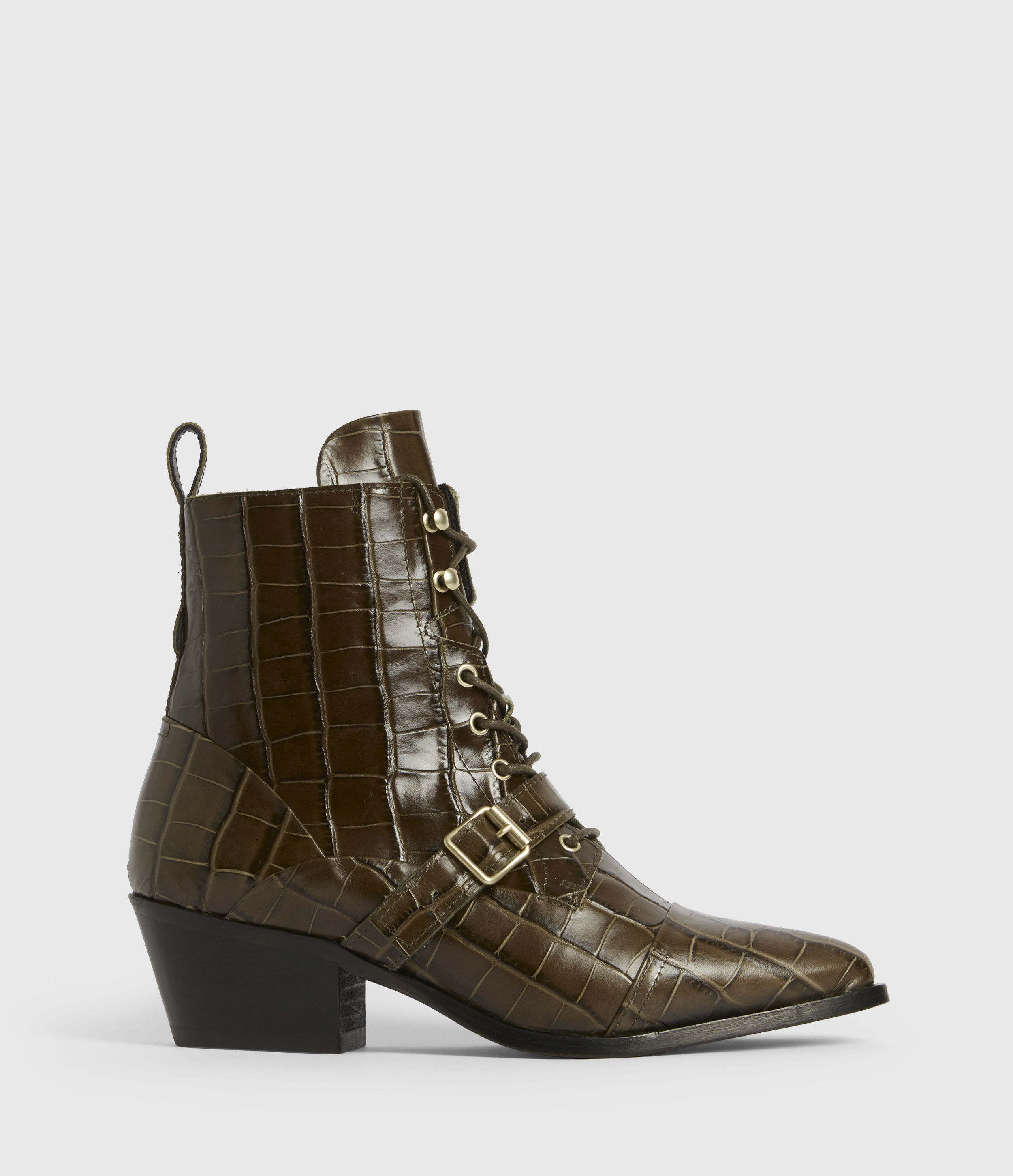 AllSaints Katy Leather Boots