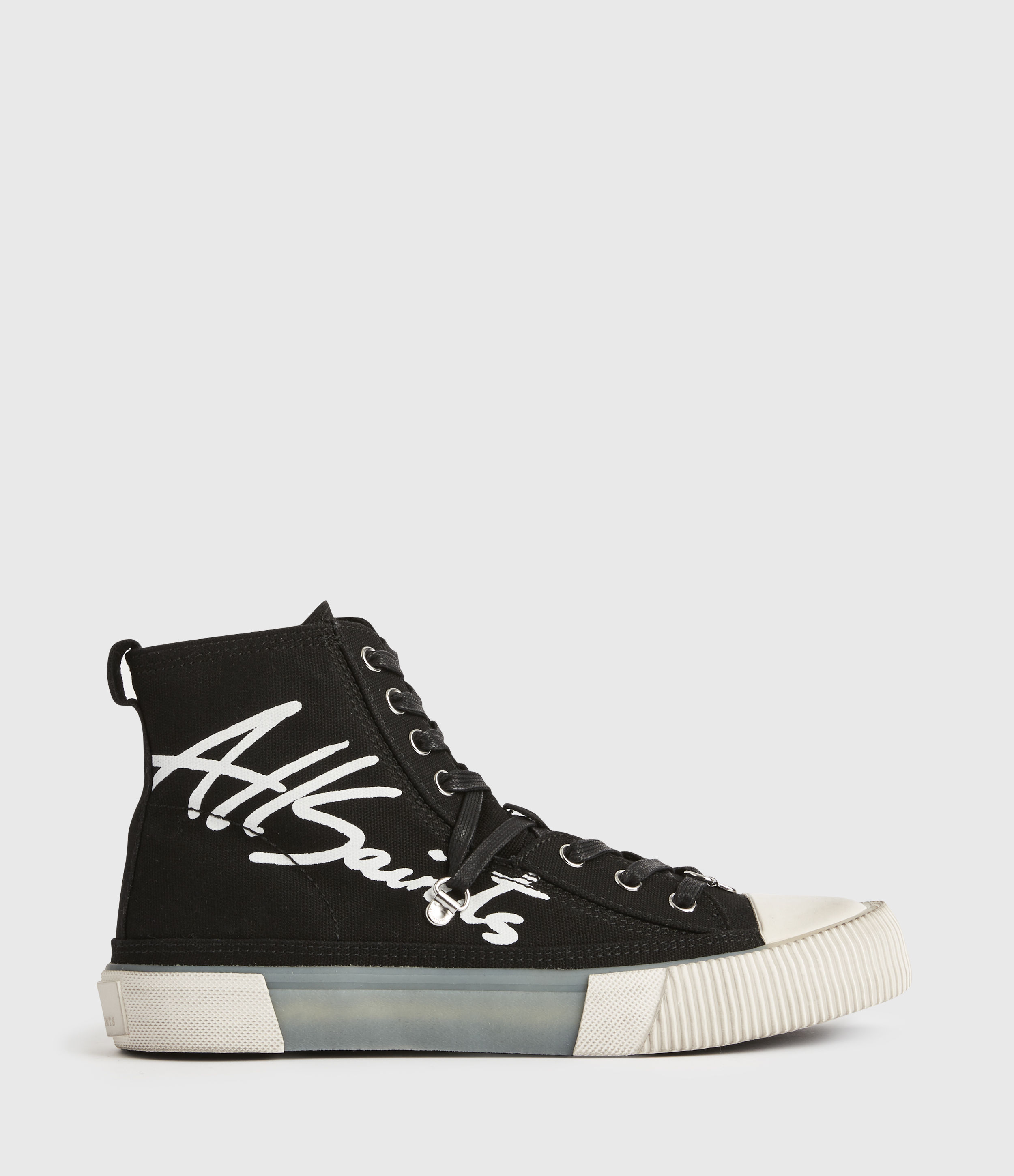 AllSaints Womens Elena Signature High Top Trainers, Black, Size: UK 6/US 8/EU 39