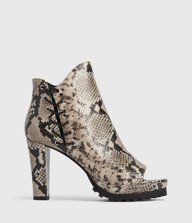 AllSaints Womens Micaela Suede Boots, Nude, Size: UK 5/US 7/EU 38