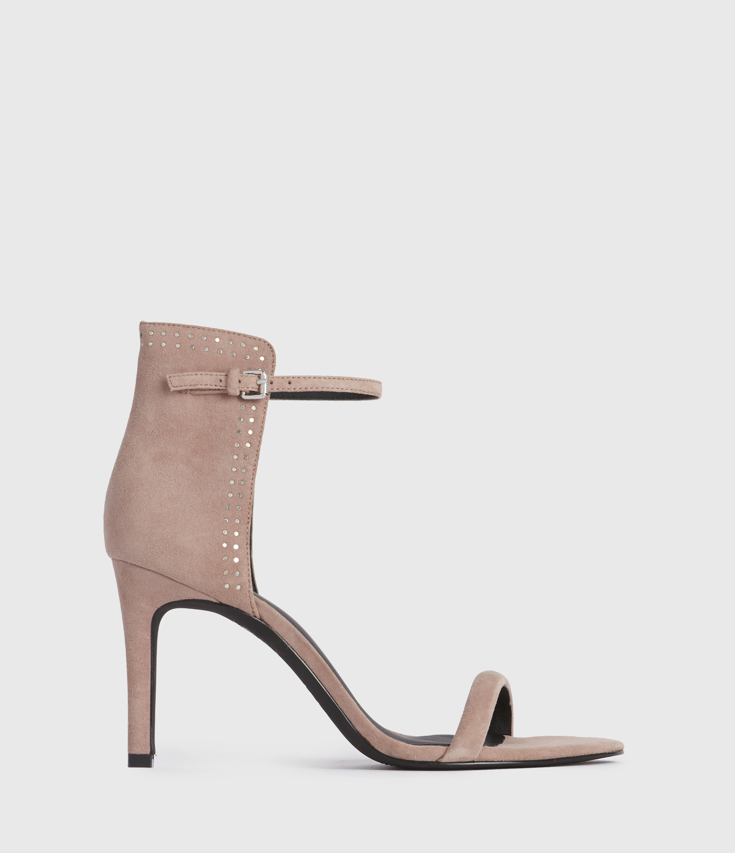 AllSaints Womens Avia Suede Sandals, Blush Pink, Size: UK 3/US 5/EU 36
