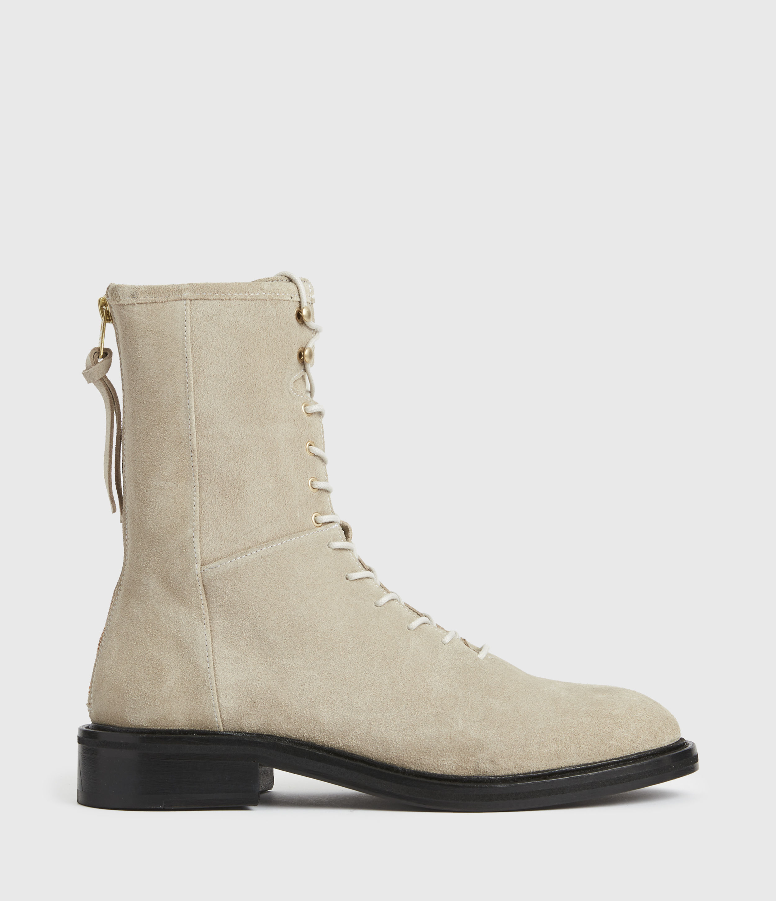 AllSaints Womens Misty Suede Boots, Summer Taupe, Size: UK 5/US 7/EU 38
