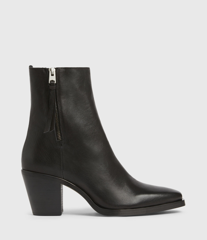AllSaints Women's Leather Cohen Boots, Black, Size: UK 8/US 10/EU 41