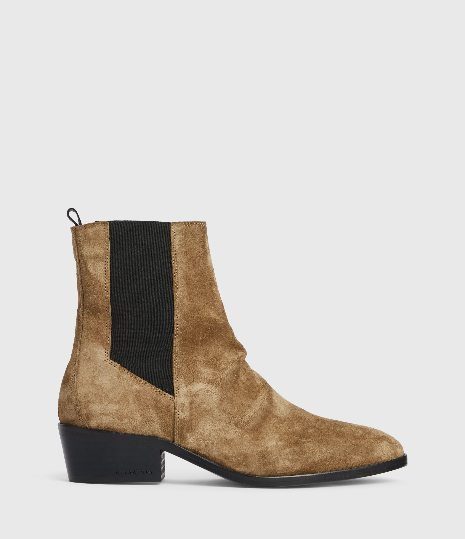 AllSaints Womens Markus Suede Boots, Dark Sand, Size: UK 7/US 9/EU 40