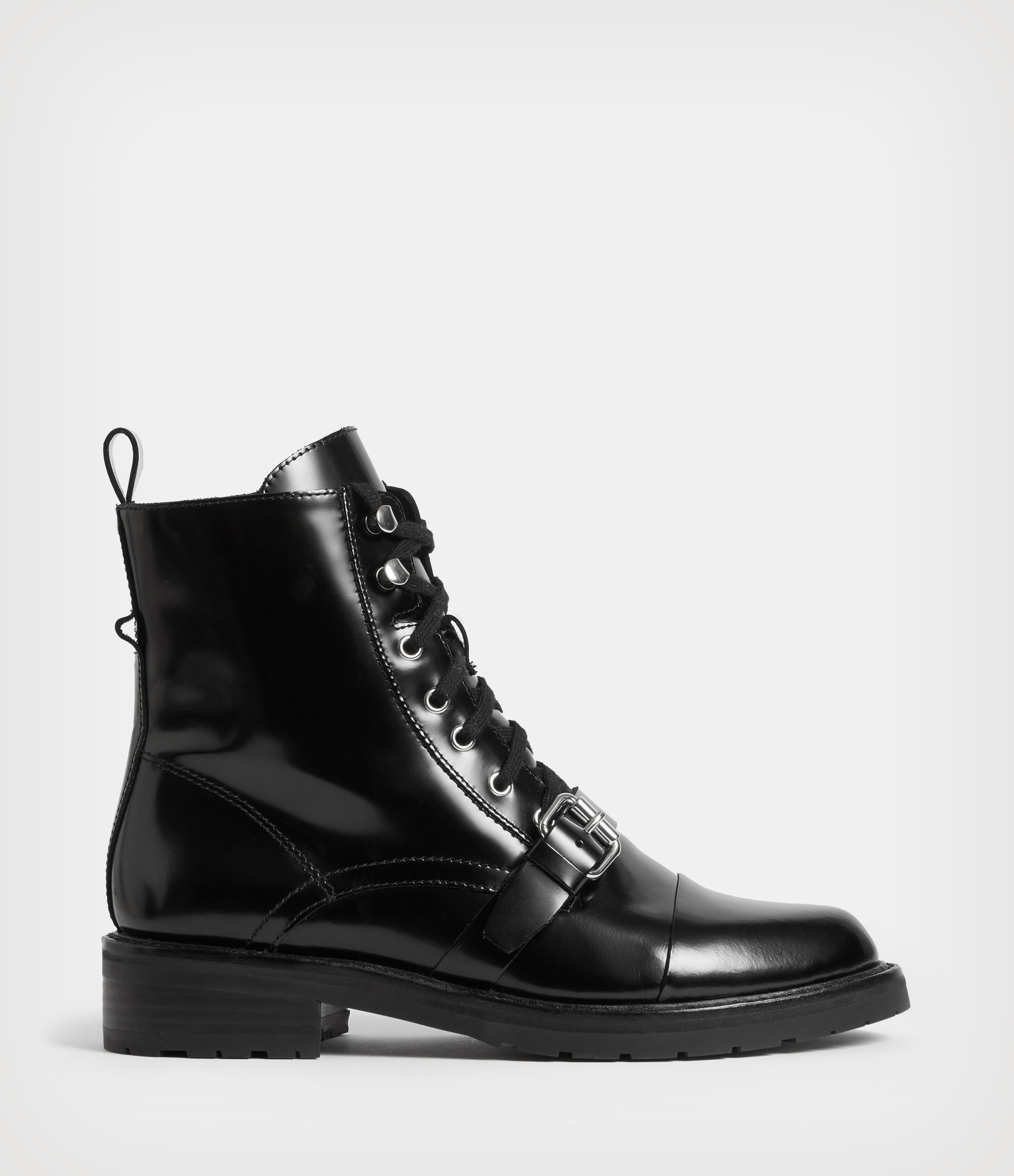 AllSaints Women's Leather Essential Donita Boots, Black, Size: UK 4/US 6/EU 37