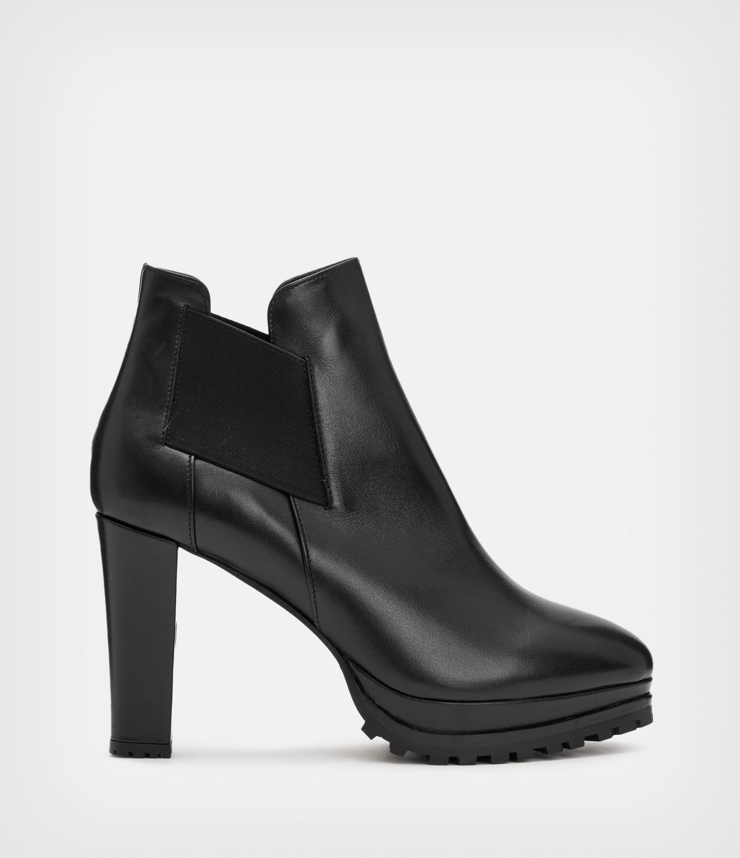 AllSaints Women's Leather Essential Sarris Boot, Black, Size: UK 5/US 7/EU 38