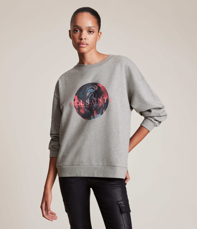 AllSaints Women's Regio Iona Sweatshirt, Grey Marl, Size: M