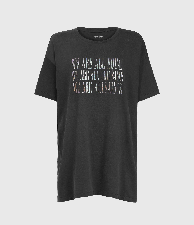 AllSaints Women's Equality Cori T-Shirt, Black, Size: M/L