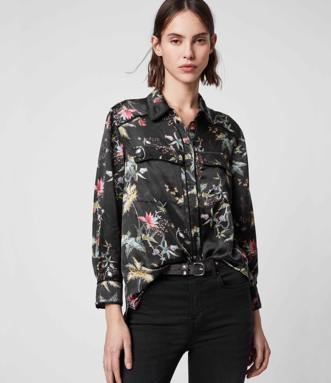 AllSaints Esther Silk Blend Evolution Shirt
