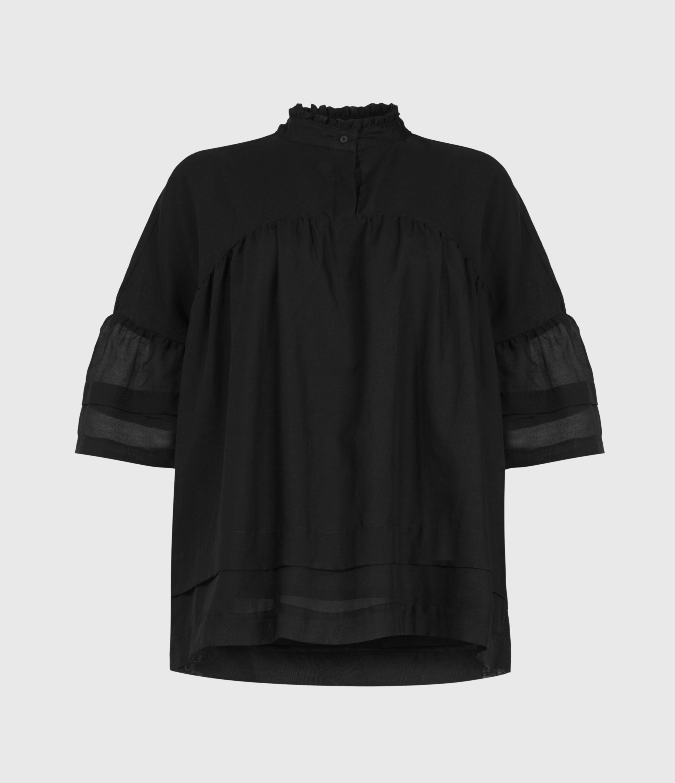 AllSaints Etna Silk Blend Top