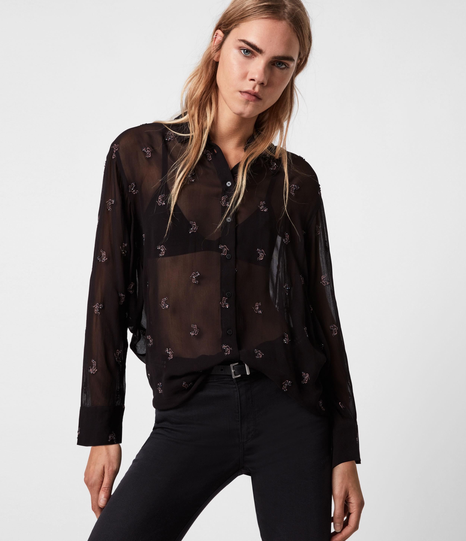 AllSaints Marianna Snake Shirt