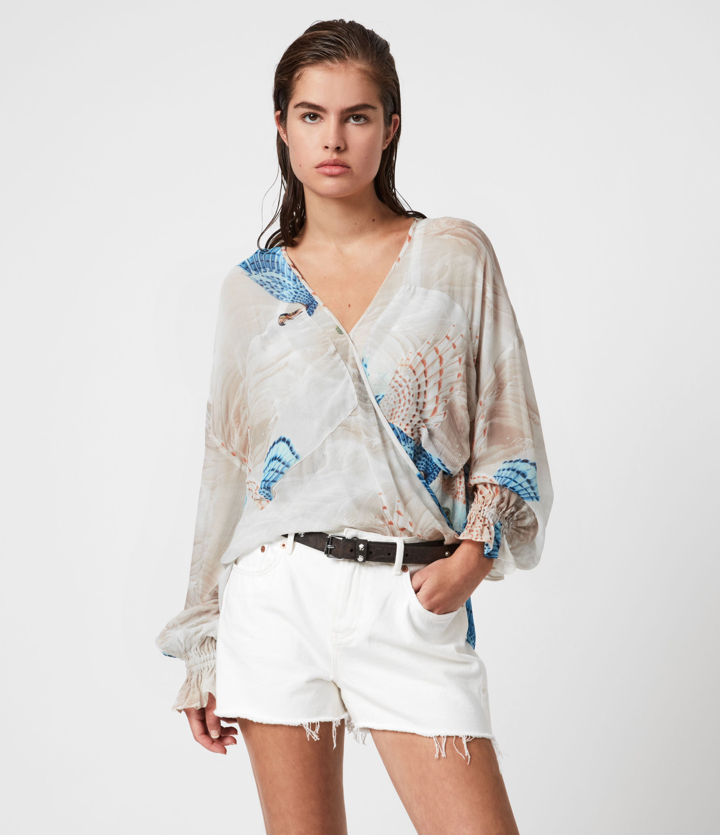AllSaints Penny Swoop Top
