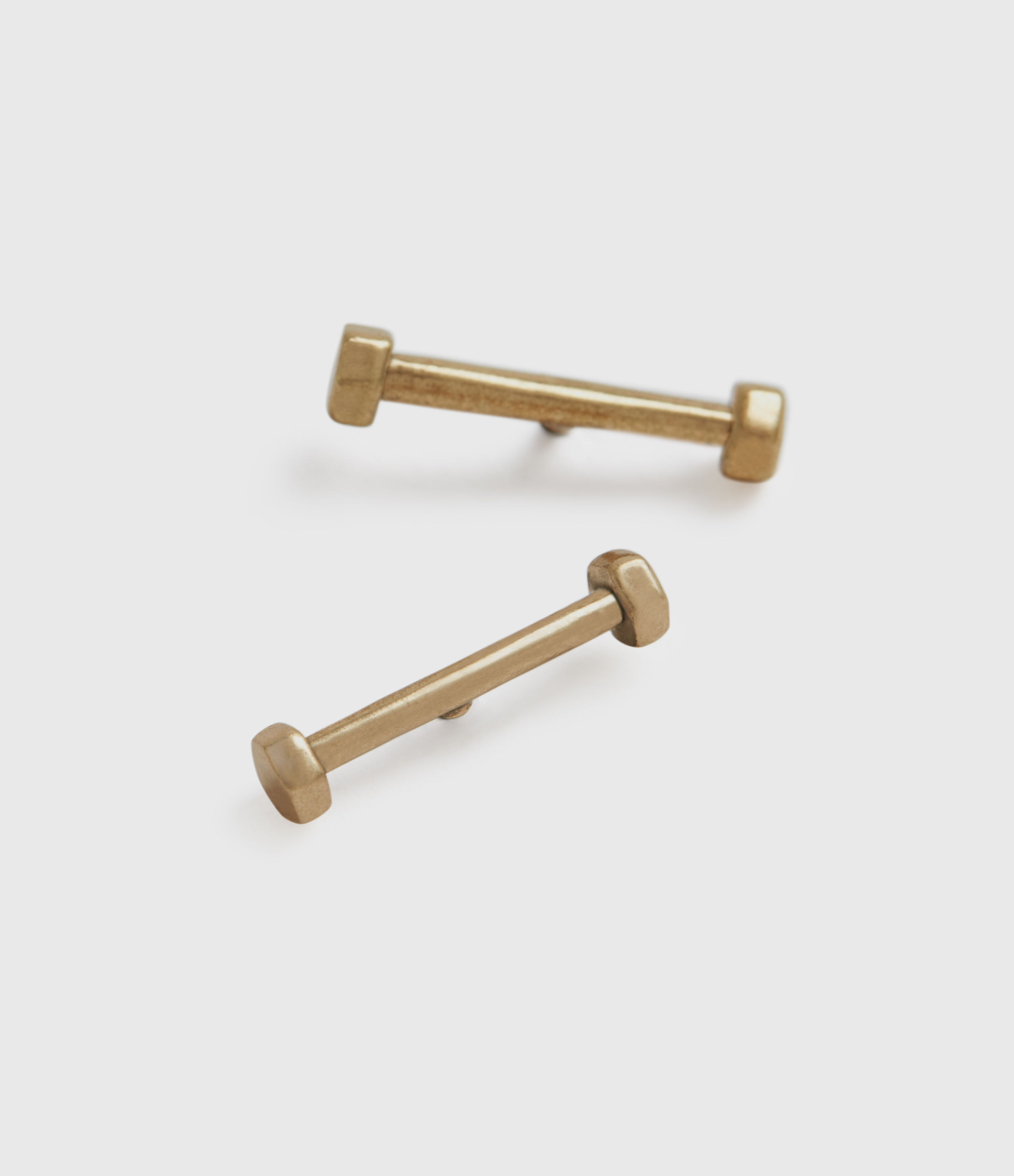 AllSaints Hexstud Gold-Stone Stud Earrings