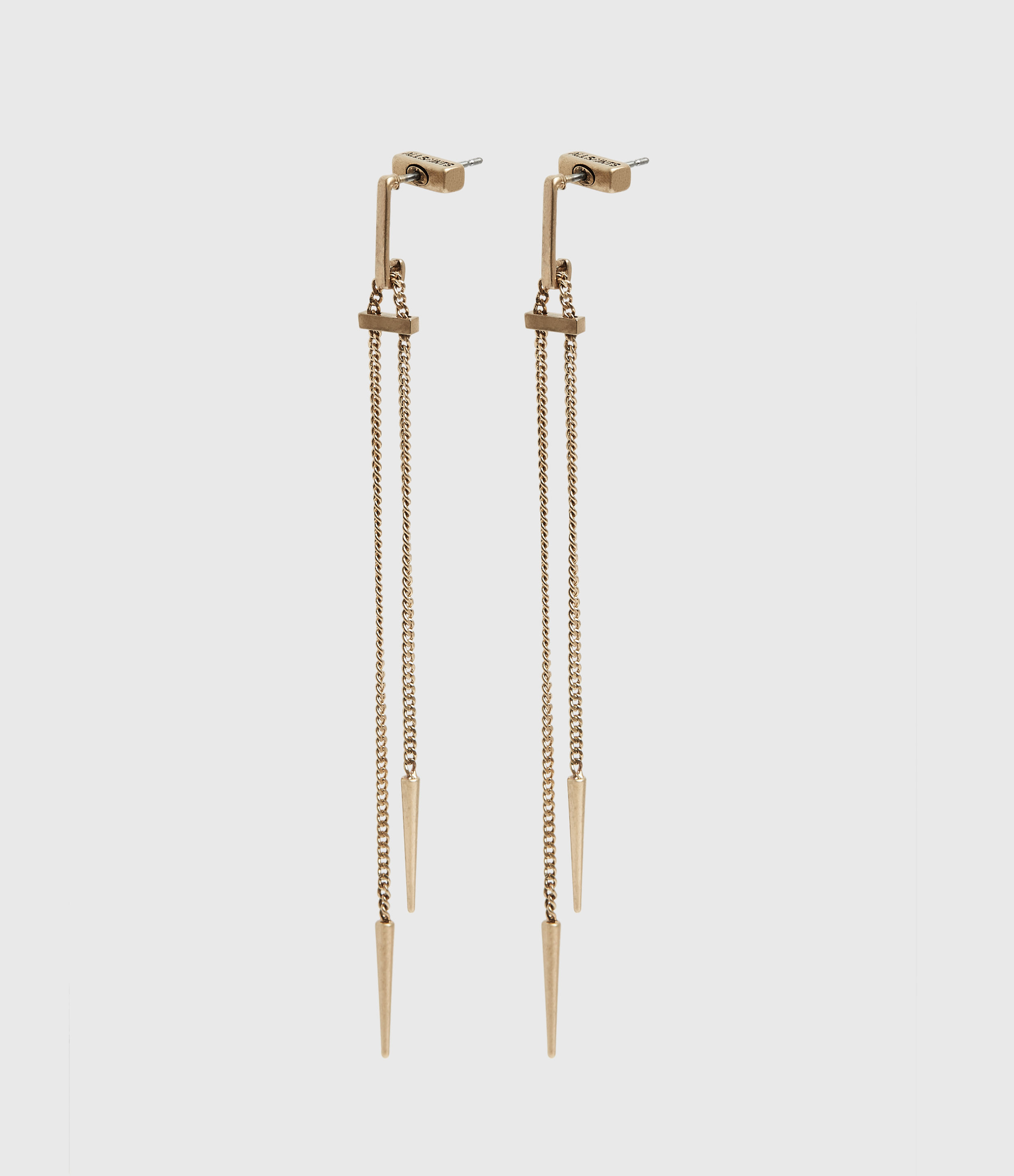 AllSaints Cayuta Gold-Tone Drop Earrings