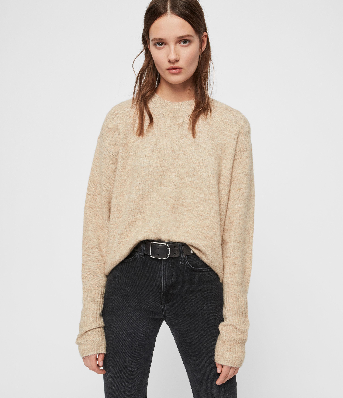 AllSaints Womens Rue Jumper, Brown, Size: S
