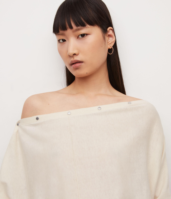 AllSaints Womens Eli Jumper, Cream White, Size: L