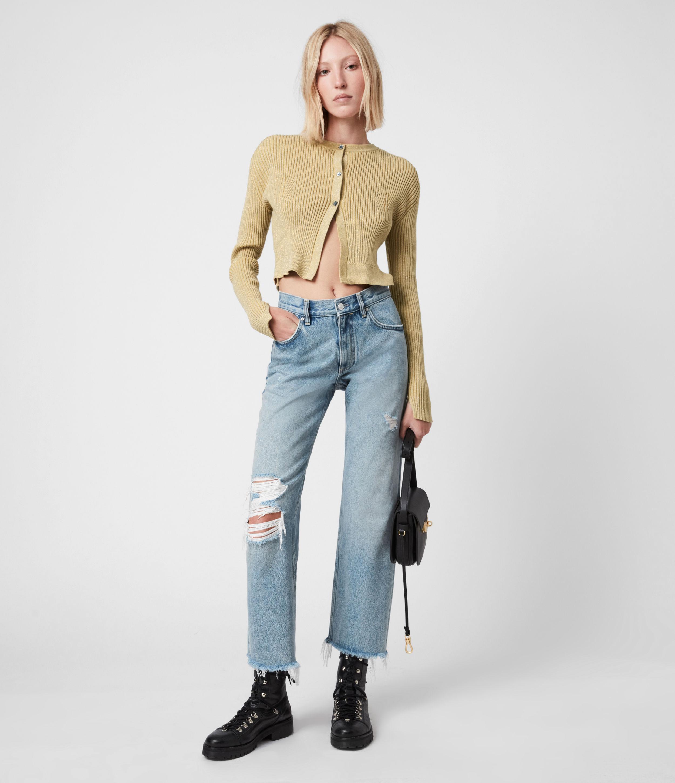 AllSaints Women's Lexi Cardigan, Gold, Size: L