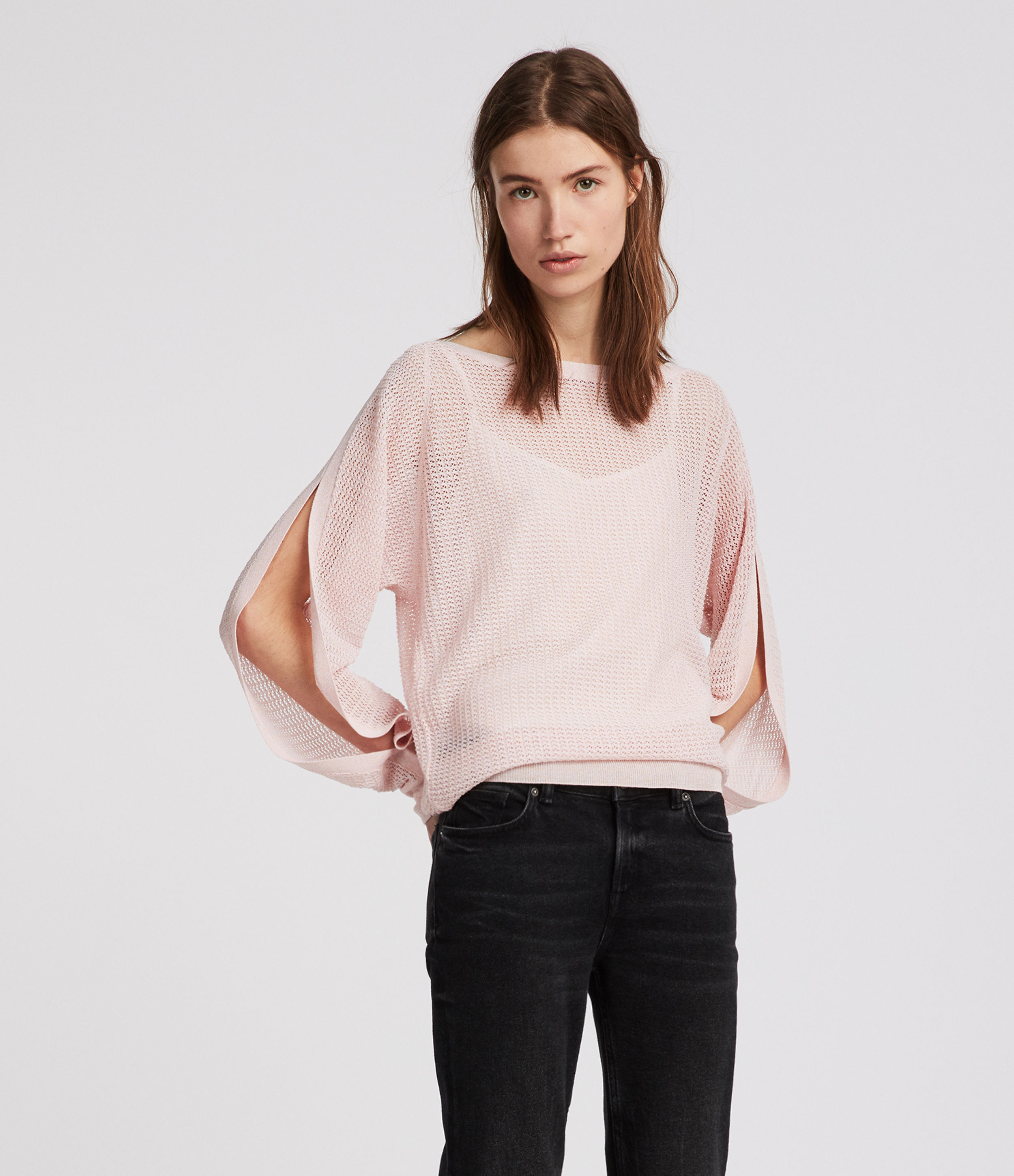 AllSaints Elle Open Shoulder Jumper