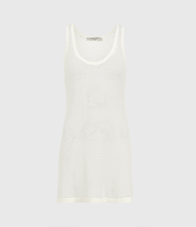 AllSaints Womens Cesca Vest, Chalk White, Size: S