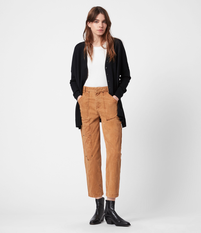 AllSaints Women's Afelia Merino Wool Cardigan, Black, Size: S