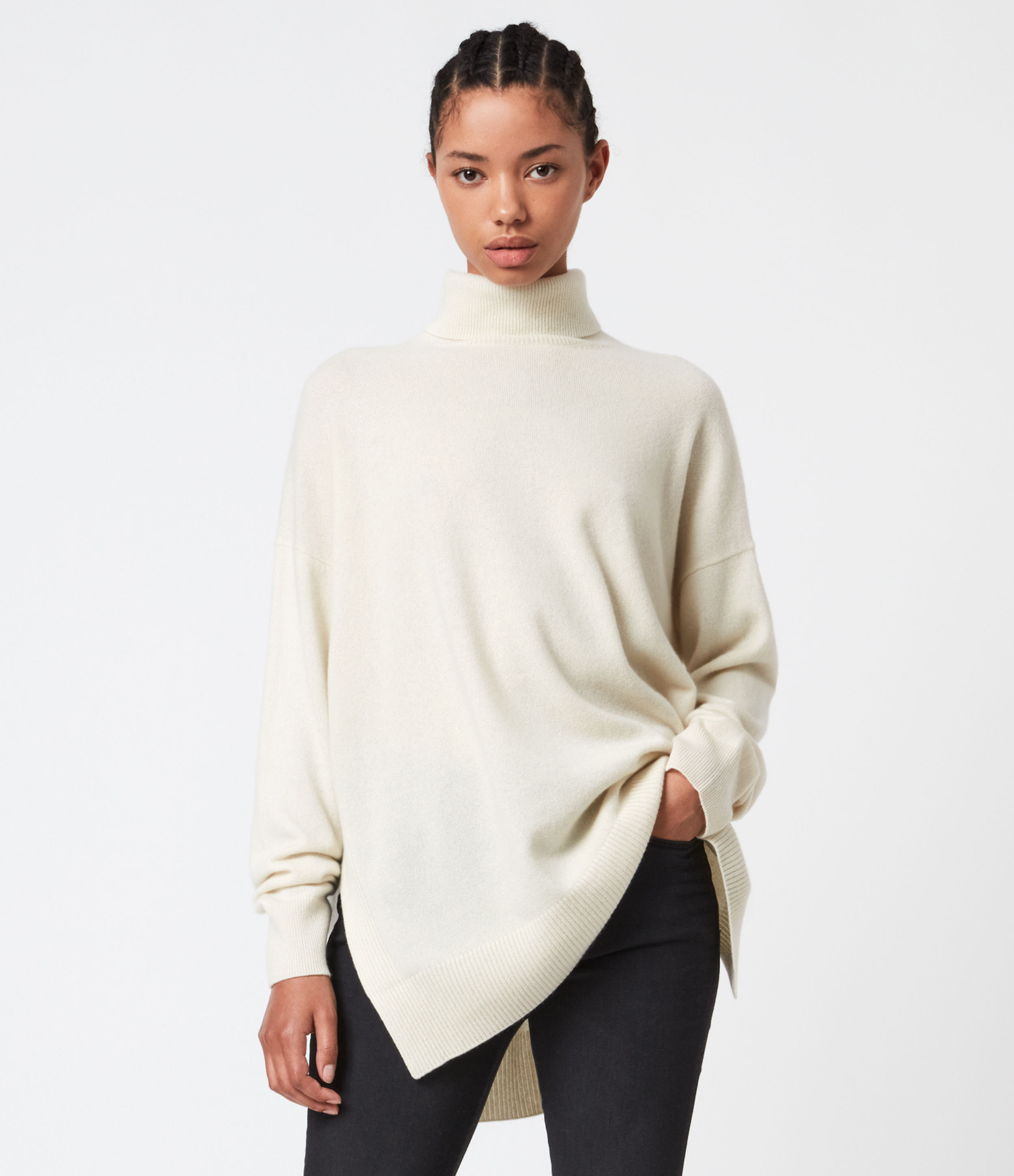 AllSaints Gala Cashmere Blend Roll Neck Jumper
