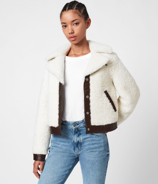 AllSaints Madsen Shearling Jacket