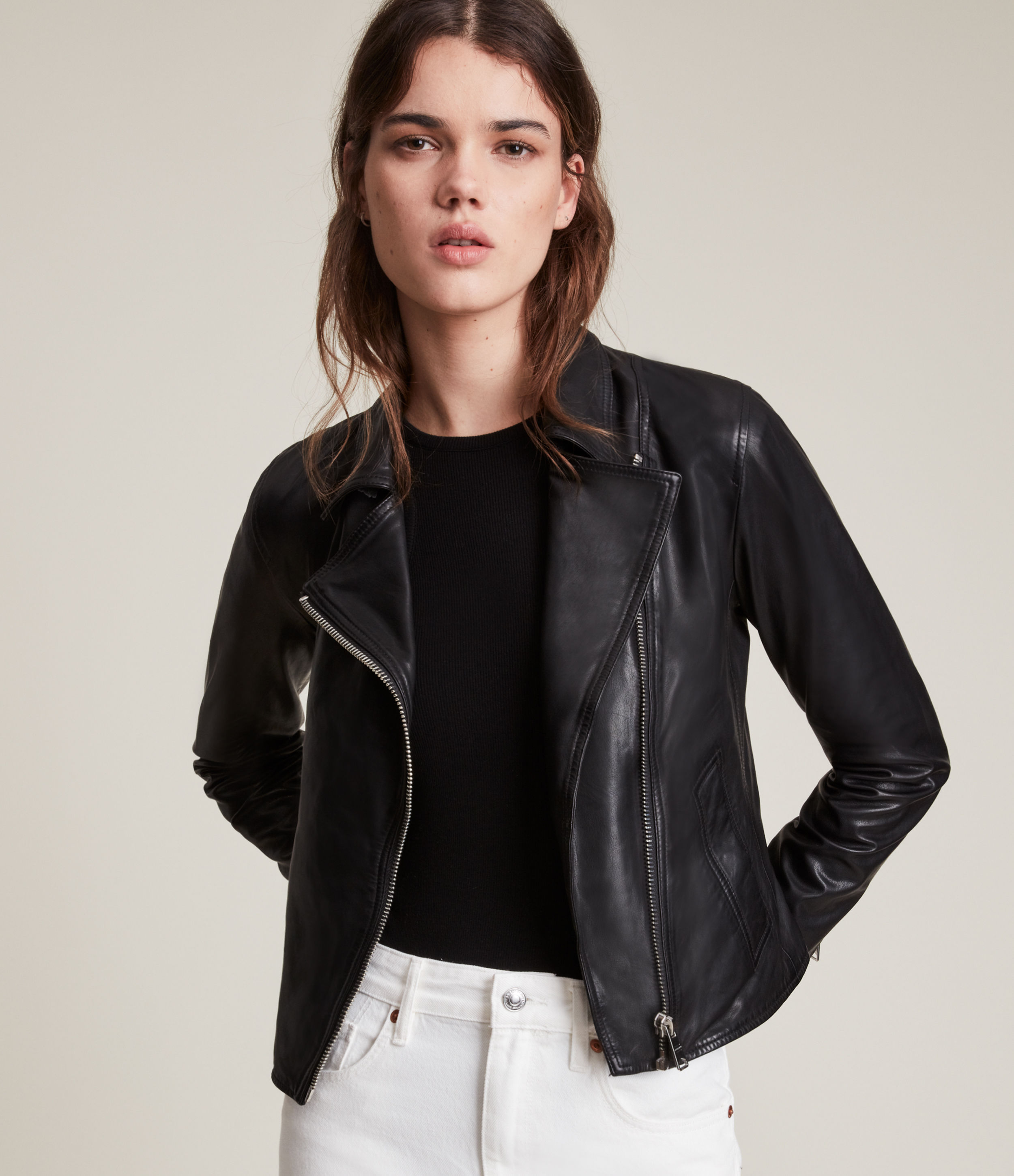 AllSaints Vela Leather Biker Jacket