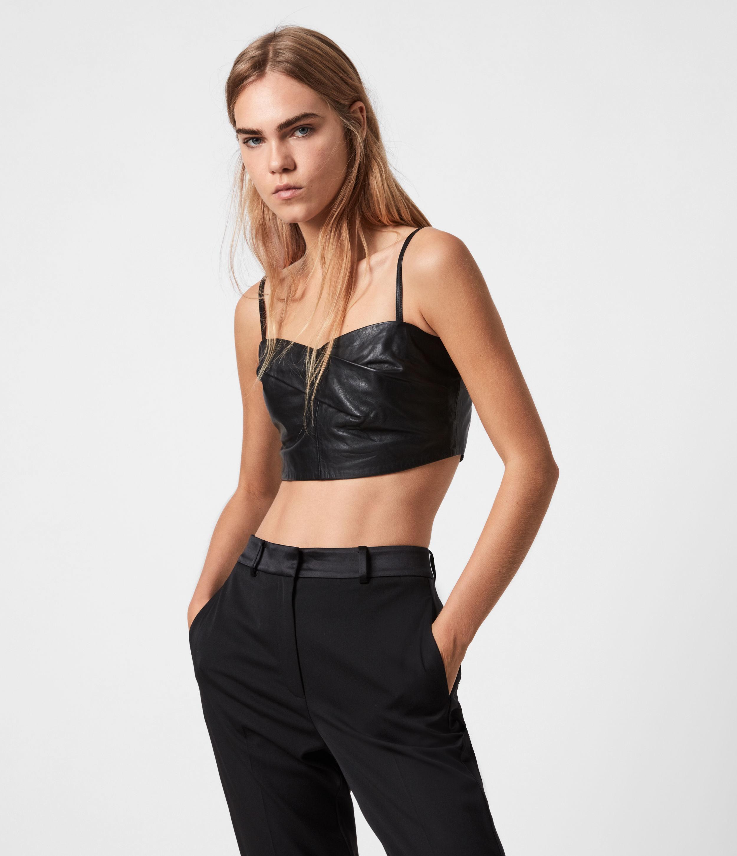 AllSaints Orla Leather Bra