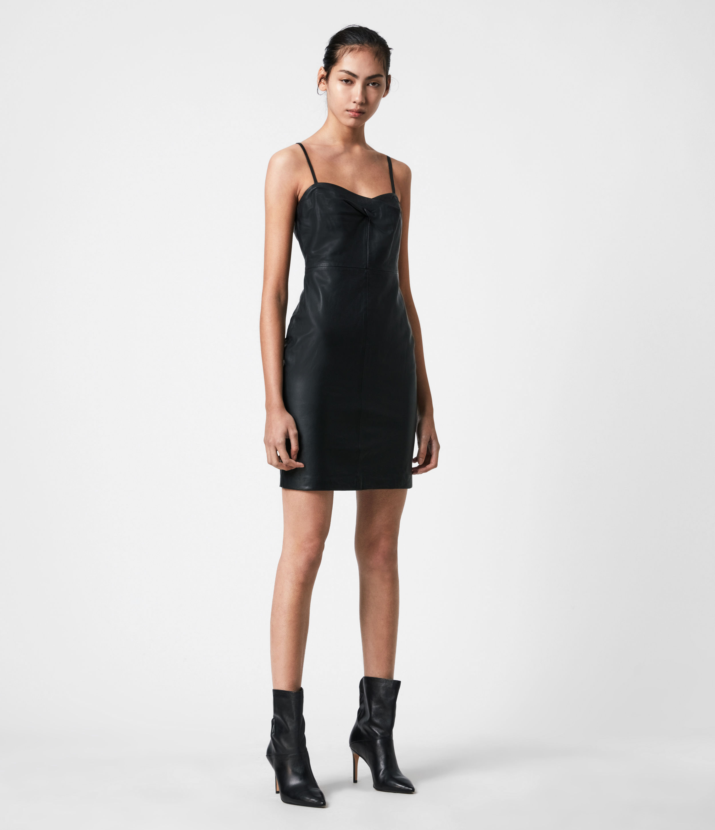 AllSaints Orla Leather Dress