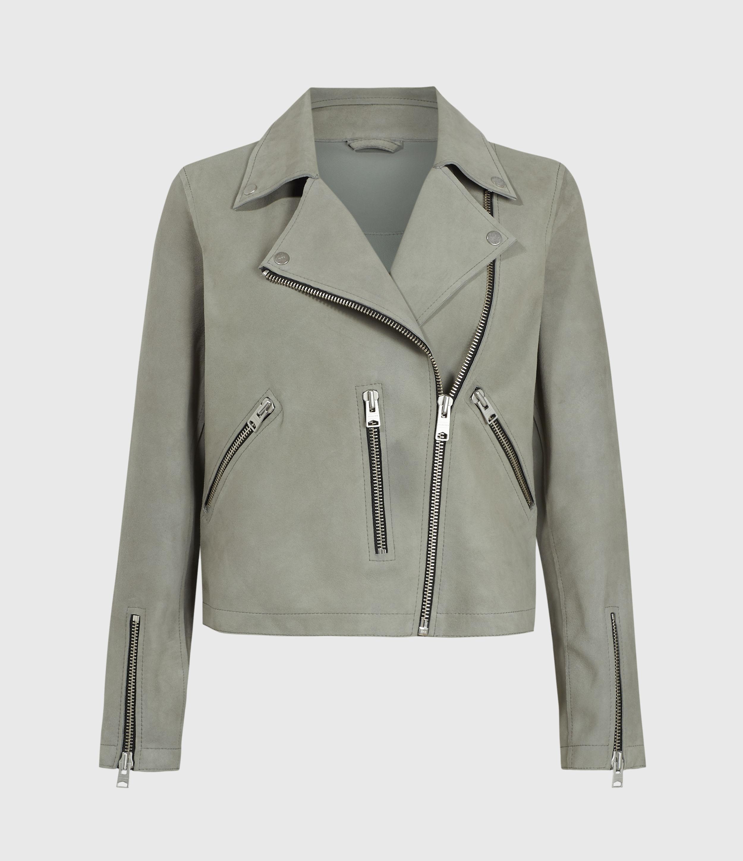 AllSaints Unlined Fern Suede Biker Jacket