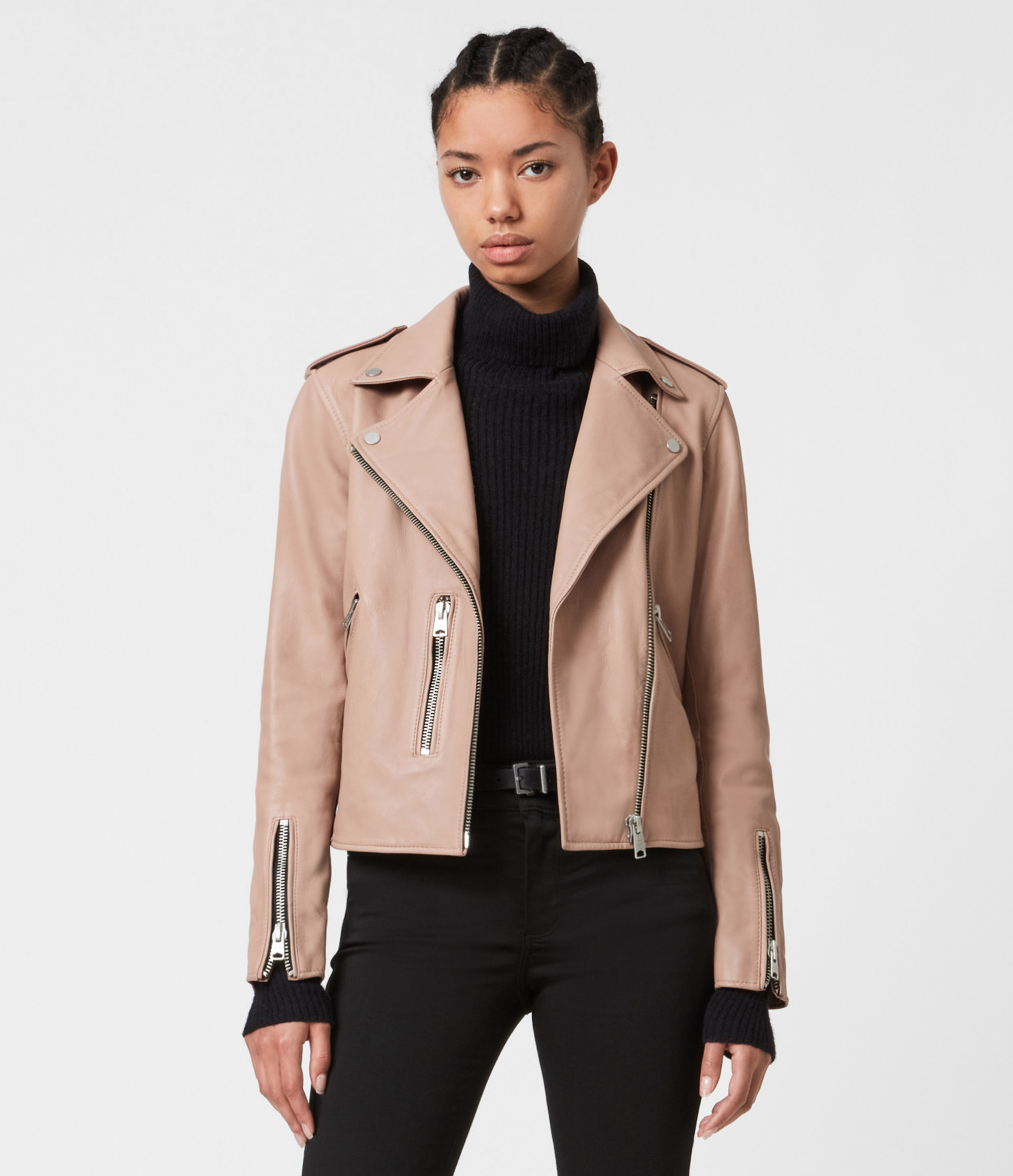 AllSaints Fern Leather Biker Jacket