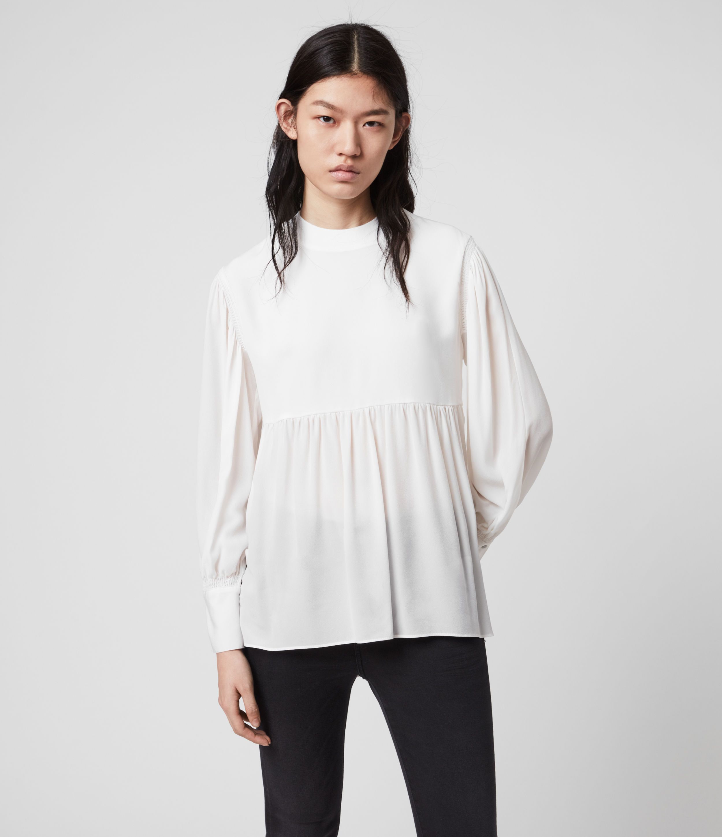 AllSaints Womens Fayre Top, White, Size: S