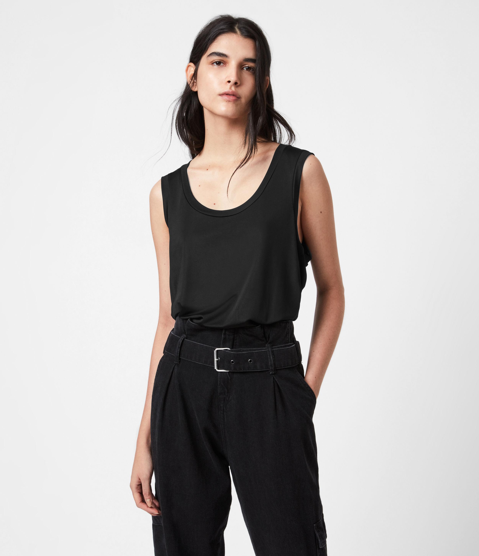 AllSaints Womens Tessa Cami, Black, Size: 12