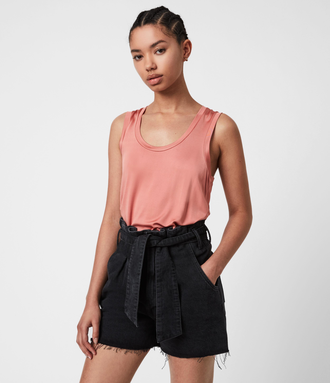 AllSaints Womens Tessa Cami, Desert Sands Pink, Size: 12