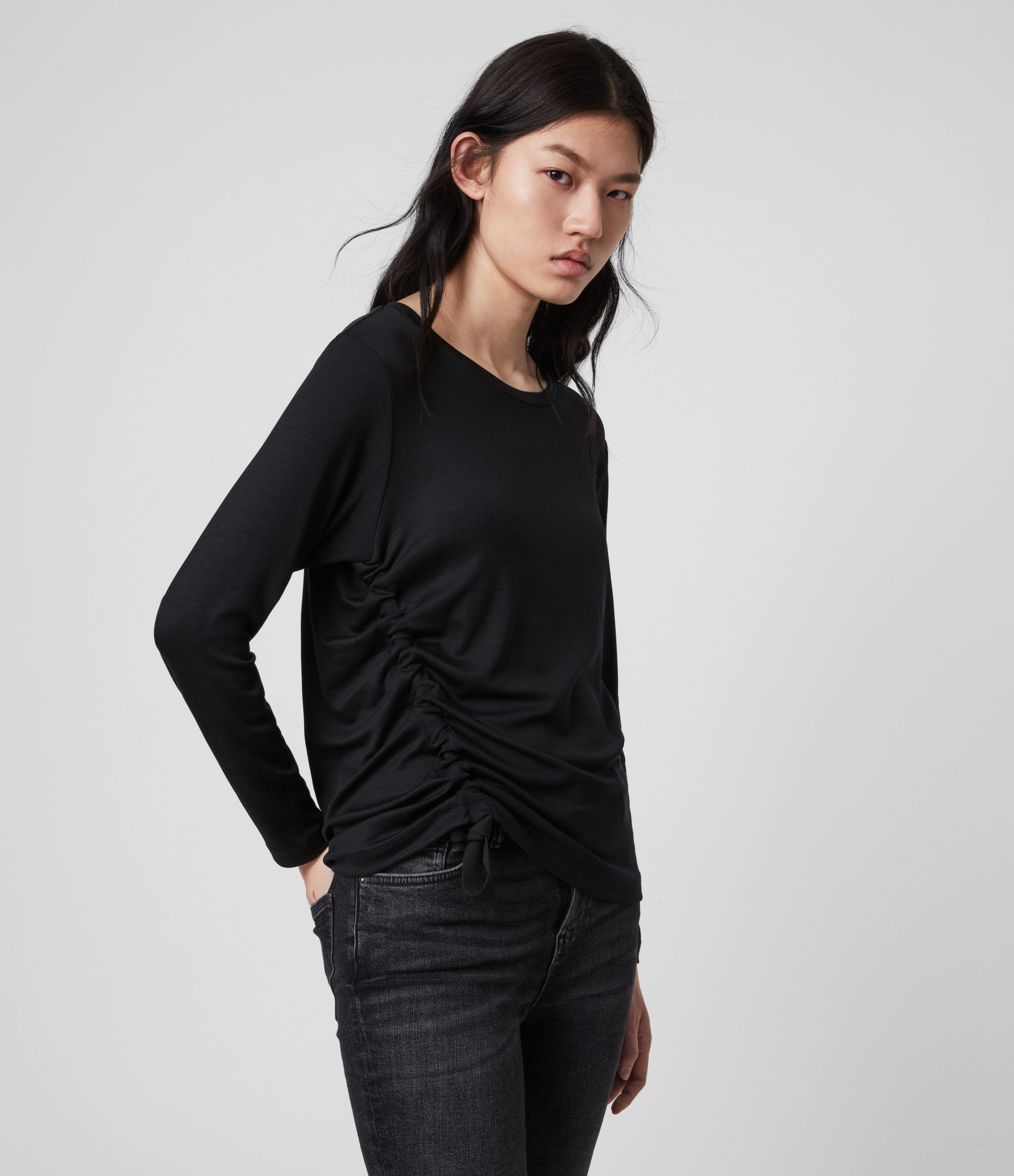 AllSaints Ryder Lux Long Sleeve T-Shirt