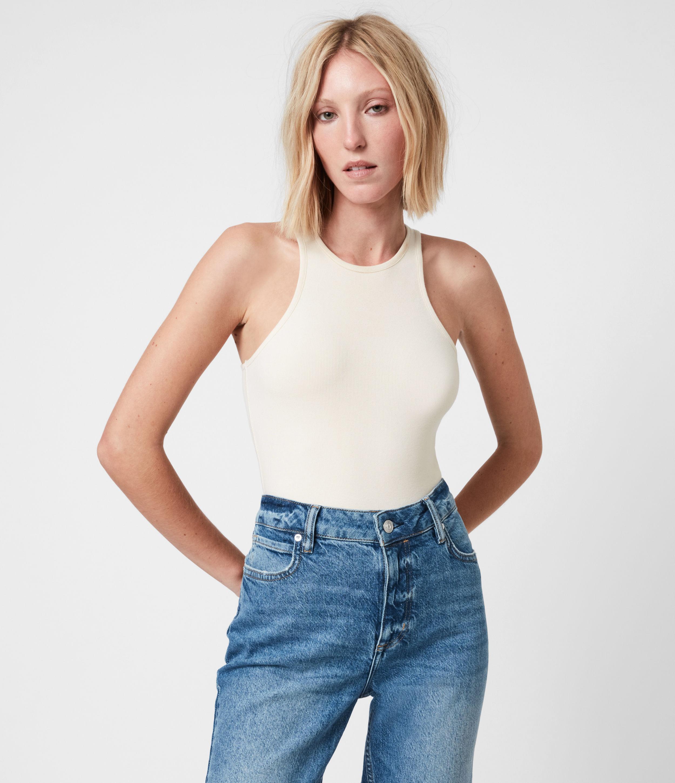 AllSaints Women's Jamie Bodysuit, Linnet White, Size: 4