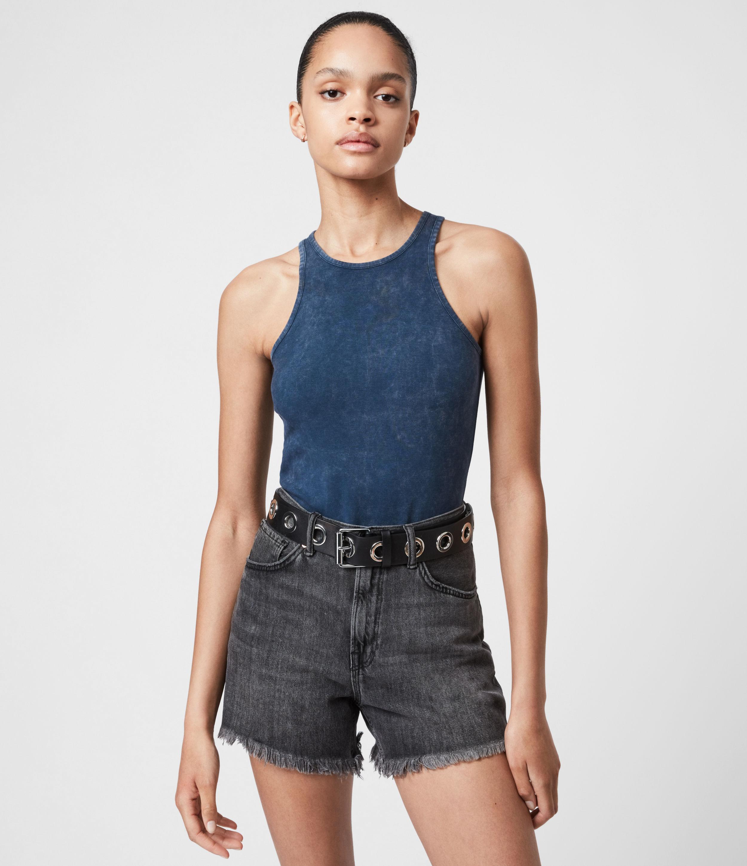 AllSaints Women's Jamie Bodysuit, Rumor Blue, Size: 14